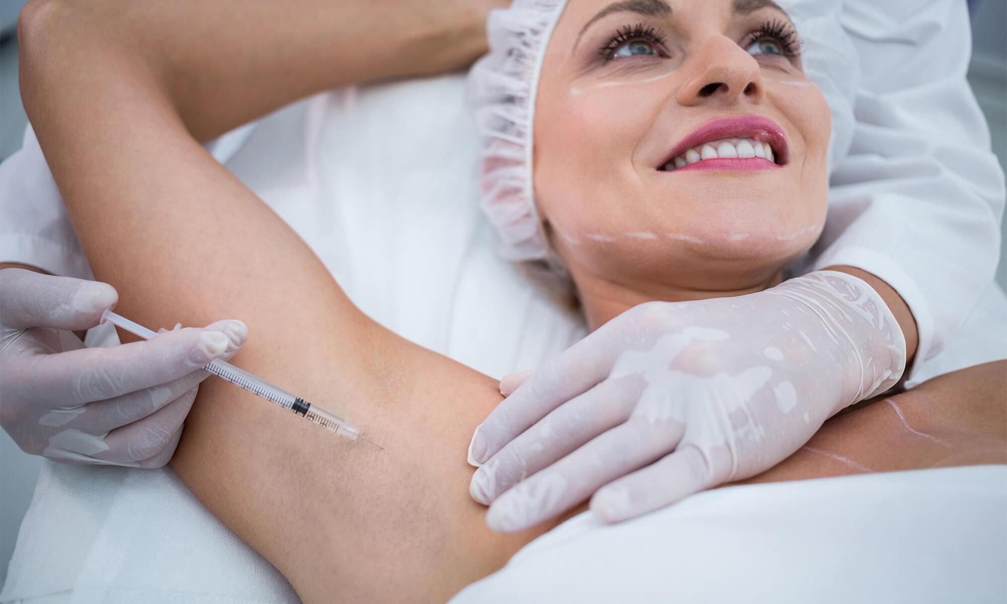 hipersecretie glande sudoripare hiperhidroza tratament botox toxina botulinica medlink center craiova dermatologie estetica